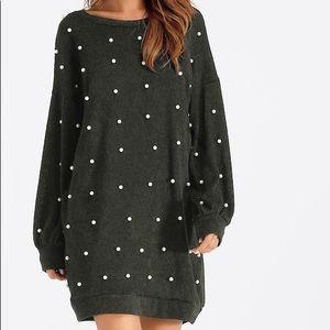 Shein Pearl Black Sweater Dress - size large